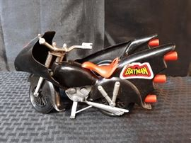 1970s Mego Batcycle with Sidecar