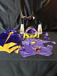 Childs Handmade Batgirl Costume wCape and Accessories