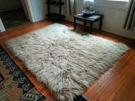 Beautiful Vintage Flokati Rug