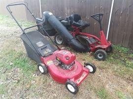 Craftsman push mower & Snapper riding mower