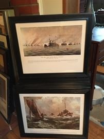 Naval Battle Prints