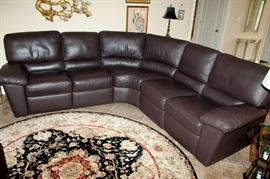 Italsofa by Natuzzi leather sectional