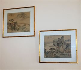 Framed Asian artwork