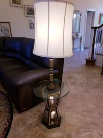Lamp table with lighted base
