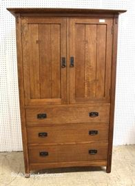 "BEAUTIFUL Mission Oak Gentlemen Chest by ""Stickley Furniture"" with Hidden Drawer Bottom Hideaway Space Instructions  Located Inside – Auction Estimate $1000-$2000"