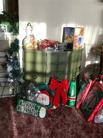 1 Christmas  Green Cabinet