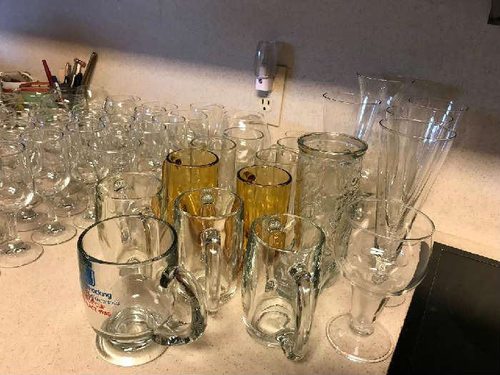 7 Beer Mugs  Wine Glasses