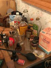 11 Vintage Bottles