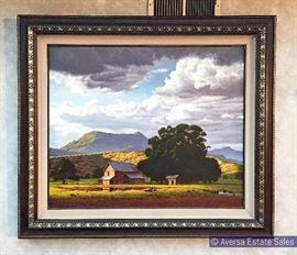 Large James Fetherholf Original Oil on Canvas 36 by 30