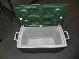 Big Green Rubbermaid Cooler