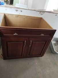 Cabinet to house a full-size sink