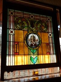 STAIN GLASS WINDOWS-ALL DETACHABLE WINDOWS FOR SALE