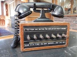 BY-GONE COMMUNICATIONS EQUIPMENT-ONE OF NUMEROUS PHONES
