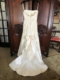 Wedding gown back with train