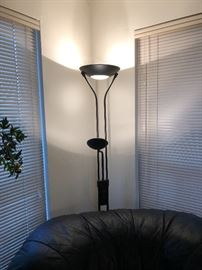 Black metal modern floor lamp