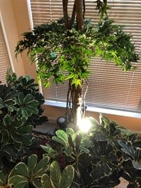 lighted artificial plants