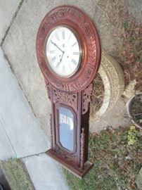 HUGE Westminster carved regulator vintage clock