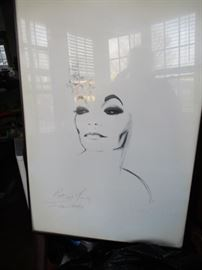 •Ertha Kitt signed wall art and picture of her singing it- #33/150