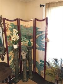 Oriental Screen, Metal Plant Stands
