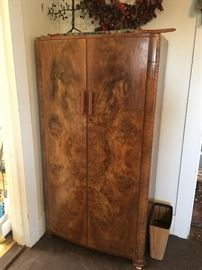 Small Burl Walnut Wardrobe