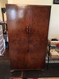 Burl Walnut Wardrobe