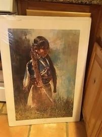 "Little Girl by Ray Swanson Artist Proof Signed 20 of 25.  27""x18""."