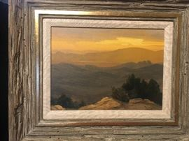 "David Schwingt ""Skull Valley Sunset Oil 9"" x 12""."