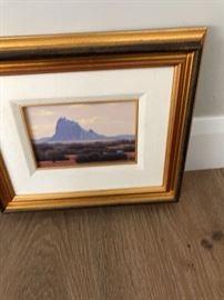 "John Cohan Acrylic ""Shiprock Sunny Winter Day"""