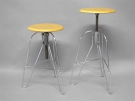Industrial Style Adjustable Bar Stools