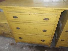 Primitive 3 drawer chest