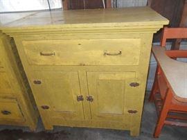 Primitive wooden kitchen cabinet