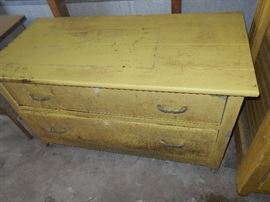 Primitive 2 drawer chest all pieces solid wood