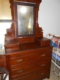 Ornate antique dresser