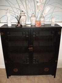 Oriential Cabinet and Accessories