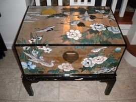 Painted Oriental Cabinet.