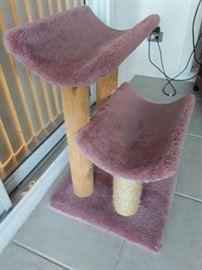 2 level rose carpet, wood