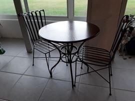 3 piece patio set  wrought iron
