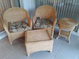 4 piece wicker rattan patio set