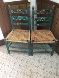 Swedish Tole Painted Chairs