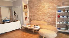 Isamu Noguchi Cloud Style Sofa and ottoman