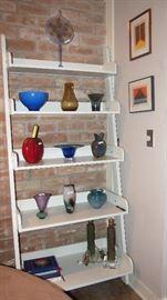 Art Glass includ. Tulip vase by Vandermark