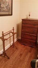 Quilt rack & small chest of drawers-SOLD