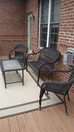 Patio furniture & outdoor rug