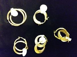 14K EARRINGS. MANY MORE AT SALE