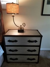 Nightstand and decorative lamp