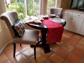 Kitchen dining set with 2 upholstered chairs