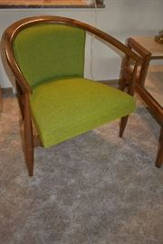 MCM UPHOLSTERED WOOD CHAIR
