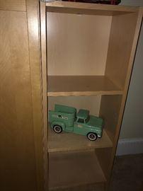 Blonde Shelving, Vintage Tonka Truck