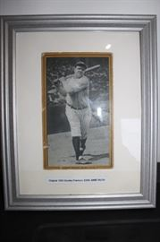 Sports collectibles including this authentic Babe Ruth Card...
