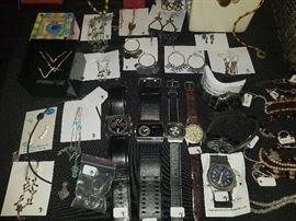 Watches and various jewelry